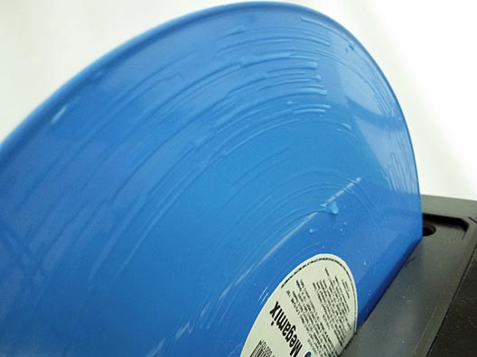 Blue Disc During Cleaning